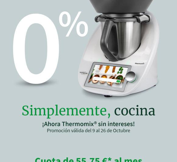 disfruta ahora de la financiación al 0% de Thermomix®