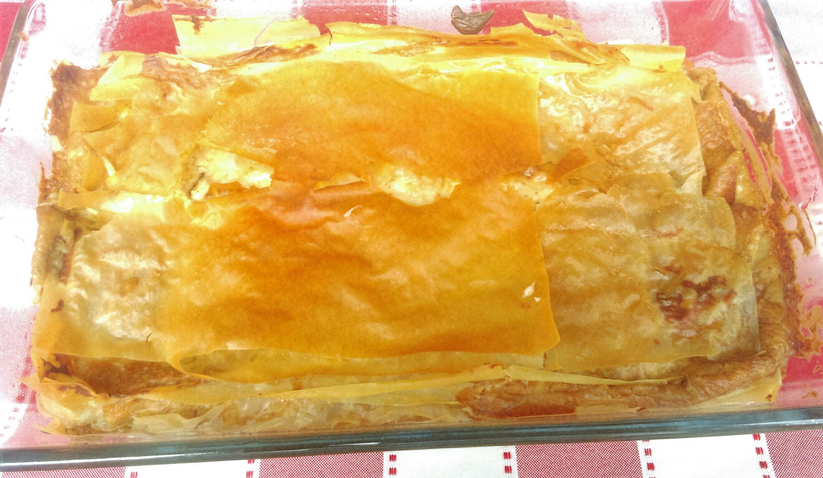 Lasagña de champis con pasta filo (TM5 Y TM 31)