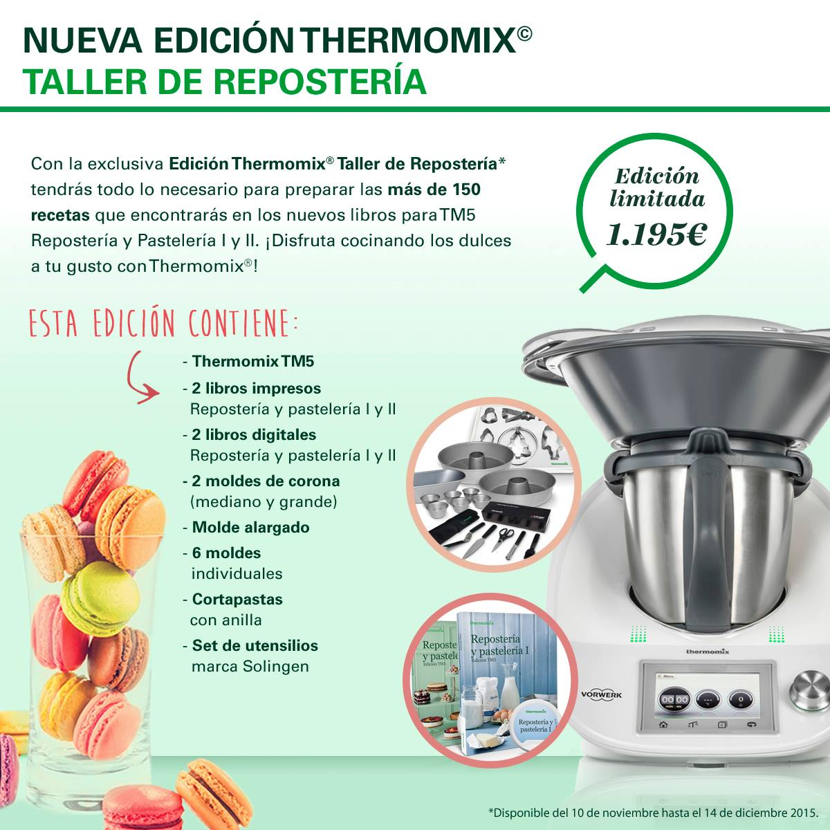 Regálate Thermomix® esta NAVIDAD: Nueva Edición Taller de Reposteria