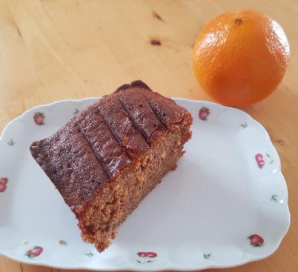 Cake de chocolate con naranja