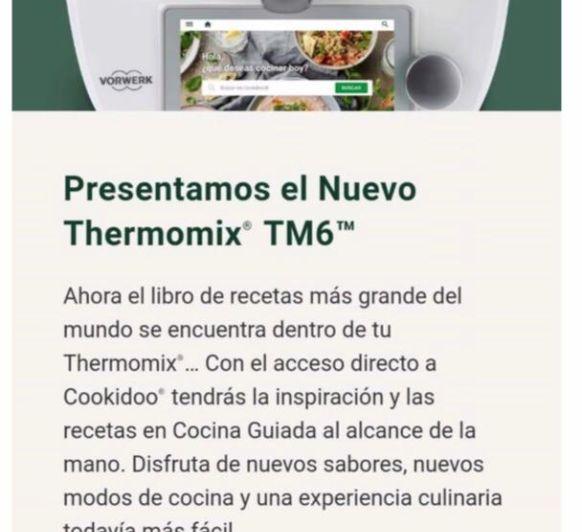 PRESENTAMOS EL NUEVO Thermomix® TM6
