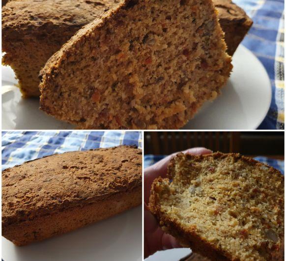Pan de molde sin gluten con semillas y tomates seco
