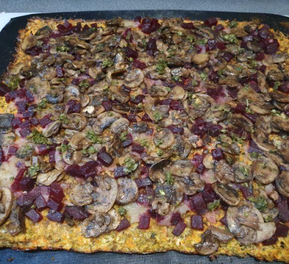 Pizza vegetariana, a mi manera